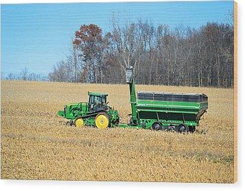 Corn Harvest Wood Print by Bonfire Photography