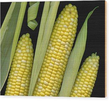 Corn On The Cob I  Wood Print by Tom Mc Nemar