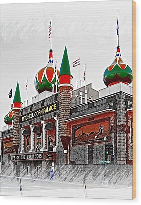 Corn Palace South Dakota Wood Print