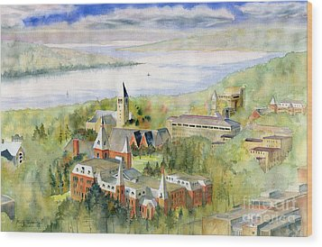 Cornell University Wood Print by Melly Terpening