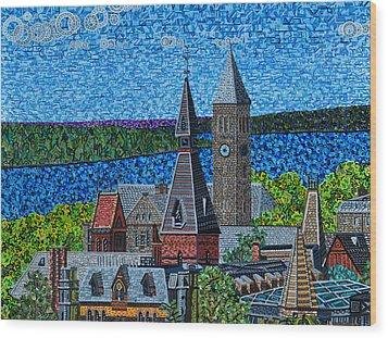 Cornell University Wood Print by Micah Mullen