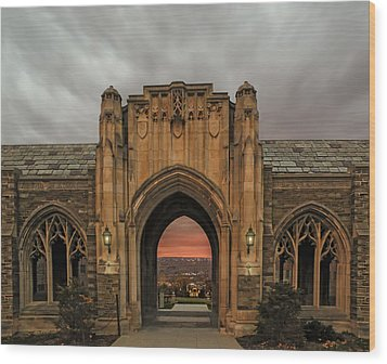 Cornell University Wood Print by Steven  Michael