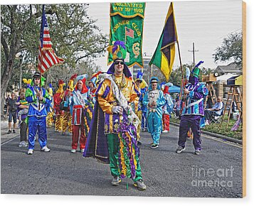 Corner Club 3 -mardi Gras New Orleans Wood Print