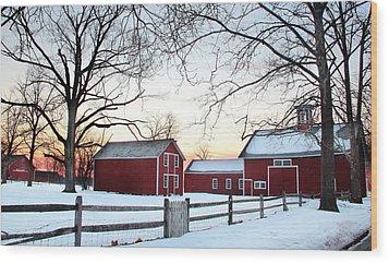 Corner Farm Wood Print