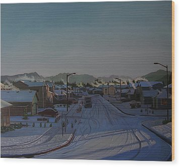 Corner Of 157th St. And 168th Ave. Wood Print by Thu Nguyen