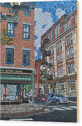 Corner Of Dietz And Main Oneonta Ny Wood Print by Micah Mullen
