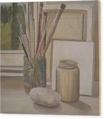 Corner Of The Studio. Wood Print