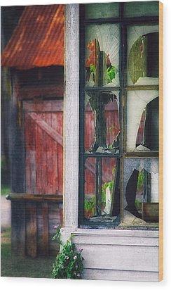 Corner Store Wood Print