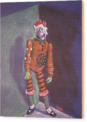Cornered Marionette Strings Not Included Wood Print by Dennis Tawes