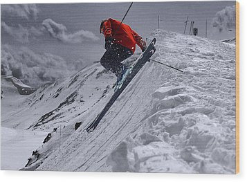 Cornice Leap Wood Print by Kevin Munro