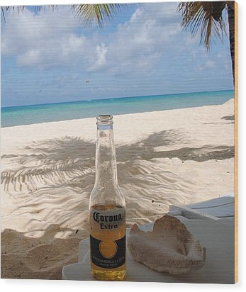 Corona Beach Day Wood Print