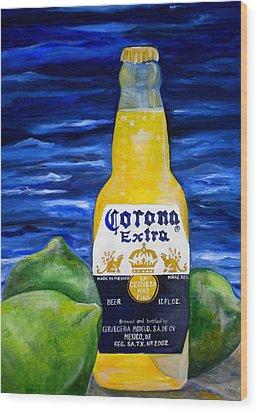 Corona Wood Print by Patti Schermerhorn