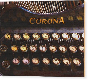 Corona Wood Print by Timothy Bulone