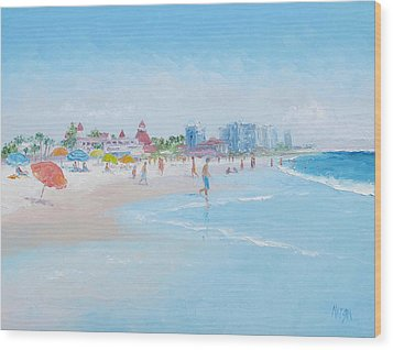 Coronado Beach San Diego Wood Print by Jan Matson
