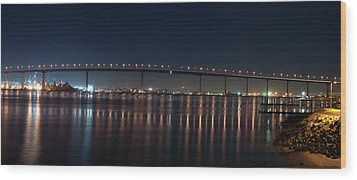 Coronado Bridge San Diego Wood Print