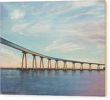 Coronado Bridge Sunset A Wood Print