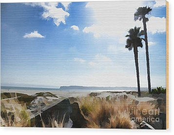Coronado - Digital Painting Wood Print by Sharon Soberon