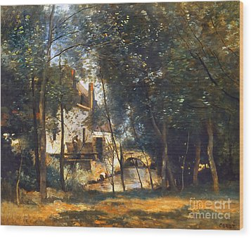 Corot - The Mill Wood Print by Granger