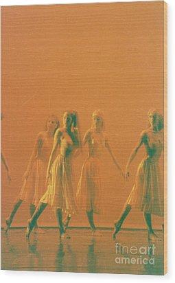 Corps De Ballet Wood Print