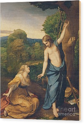 Correggio Wood Print by Noli Me Tangere