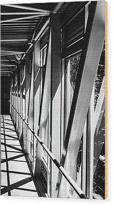 Corridors Wood Print