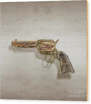 Corroded Peacemaker Wood Print by YoPedro