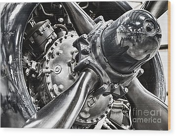Corsair F4u Engine Wood Print by Bryan Keil
