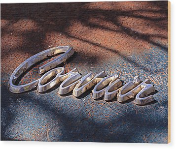 Corvair Emblem Wood Print by Christopher McKenzie