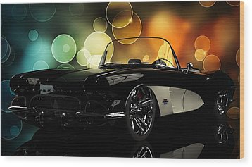 Corvette 1961 Wood Print by Louis Ferreira