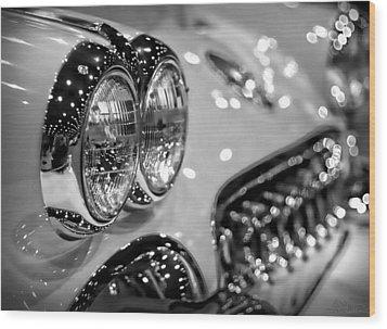 Corvette Bokeh Wood Print by Gordon Dean II