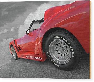 Wood Print featuring the photograph Corvette Daytona by Gill Billington