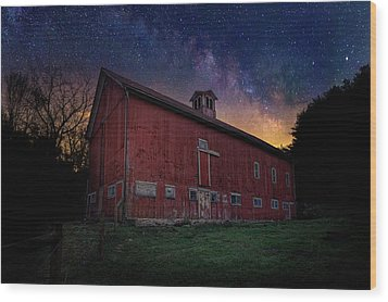 Wood Print featuring the photograph Cosmic Barn by Bill Wakeley