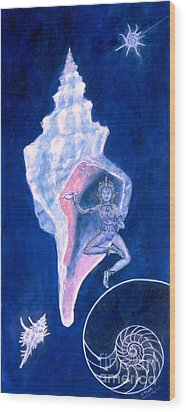 Cosmic Dancer Wood Print by Doris Blessington