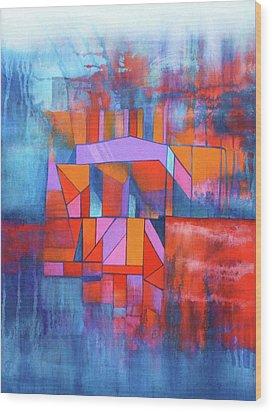 Cosmic Garage Wood Print by J W Kelly
