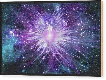 Cosmic Heart Of The Universe Mosaic Wood Print