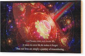 Cosmic Inspiration God Source 2 Wood Print