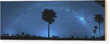 Wood Print featuring the photograph Cosmic Night by Mark Andrew Thomas