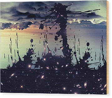 Wood Print featuring the photograph Cosmic Resoance No 3 by Robert G Kernodle