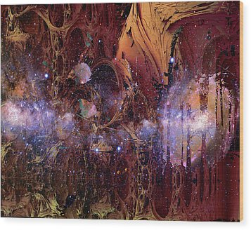 Wood Print featuring the photograph Cosmic Resonance No 2 by Robert G Kernodle