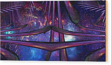 Wood Print featuring the photograph Cosmic Resonance No 7 by Robert G Kernodle