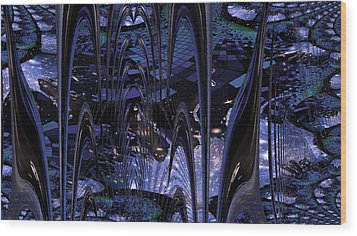 Wood Print featuring the photograph Cosmic Resonance No 8 by Robert G Kernodle