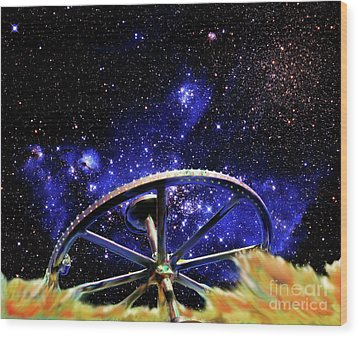 Wood Print featuring the photograph Cosmic Wheel by Jim and Emily Bush
