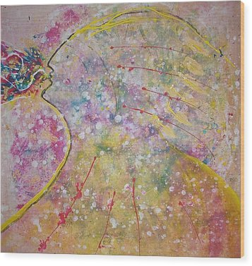 Cosmos Song Wood Print by Ruth Beckel