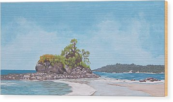Wood Print featuring the painting Costa Rican Coast by Robert Decker