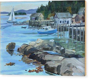 Costal Maine Wood Print by Michael McDougall