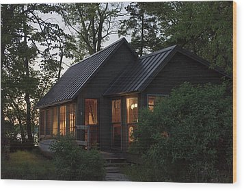 Wood Print featuring the photograph Cosy Cabin In The Woods by Gary Eason