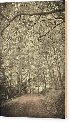 Cosy Path Wood Print by Svetlana Sewell