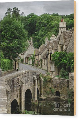 Cotswolds Village Castle Combe Wood Print