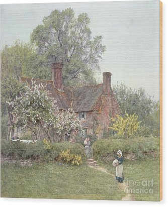 Cottage At Chiddingfold Wood Print by Helen Allingham