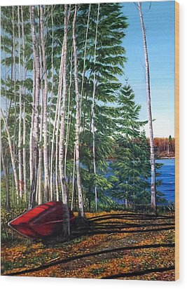 Cottage Country Wood Print